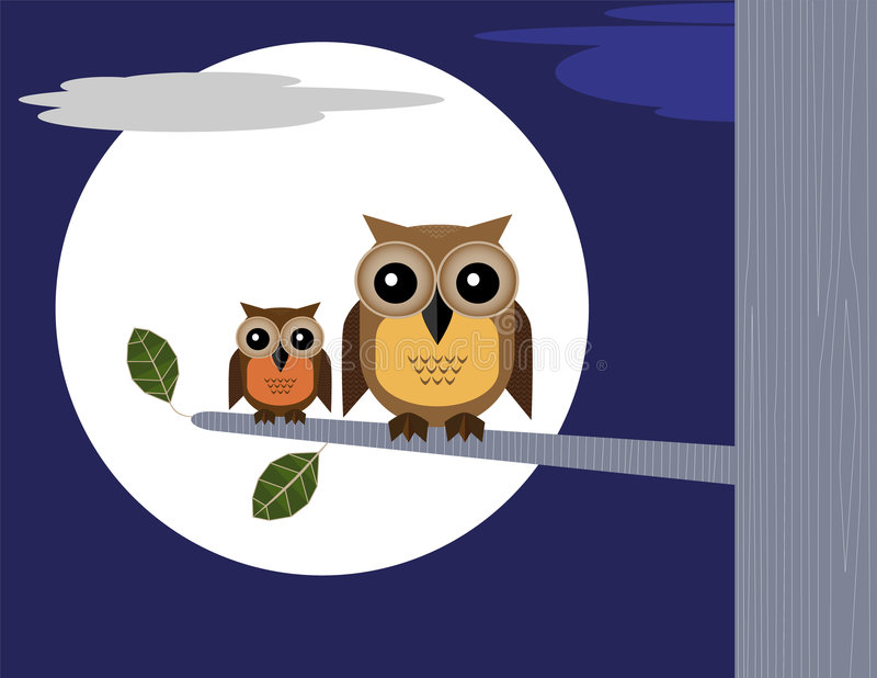 moonowls stock illustrationer