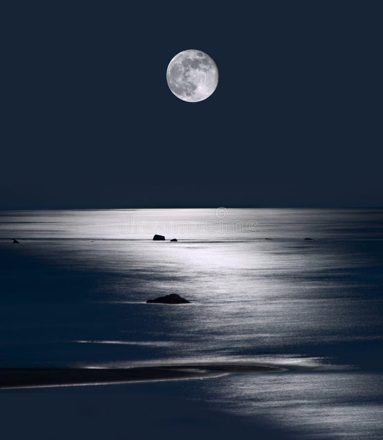 moonrise Мичигана озера стоковые фото