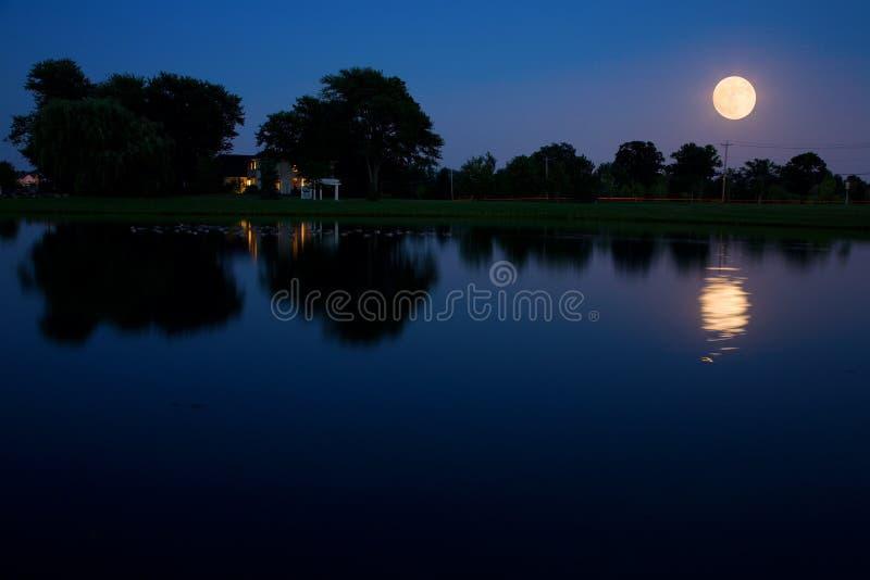 moonrise zdjęcia stock