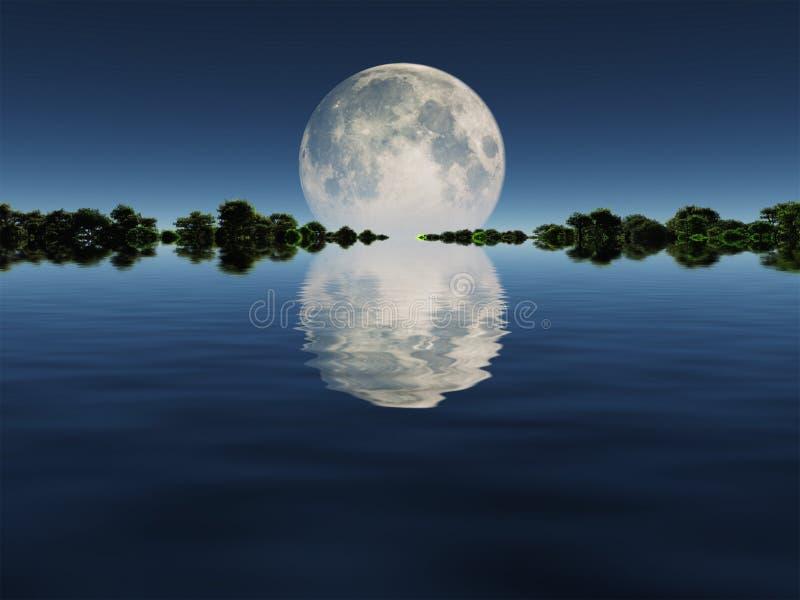 moonrise ilustração stock