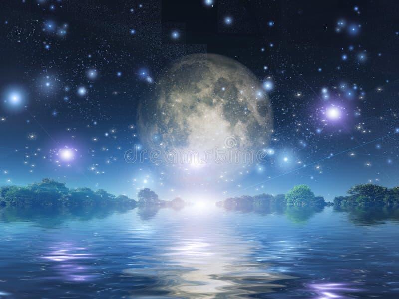 moonrise vektor illustrationer