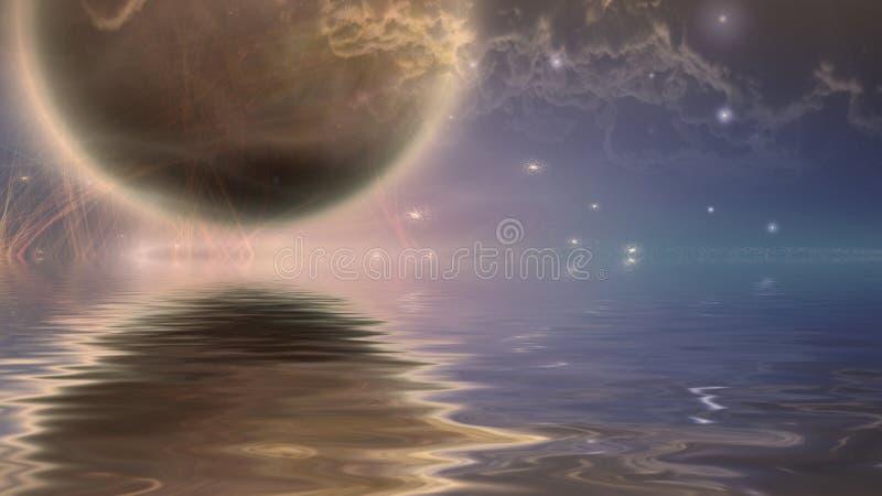 moonrise διανυσματική απεικόνιση
