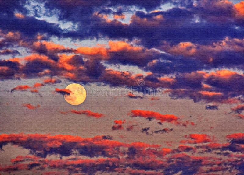 moonrise στοκ φωτογραφία με δικαίωμα ελεύθερης χρήσης