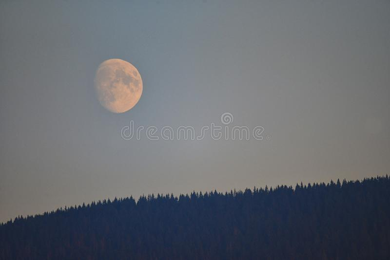 Moonrise stock images