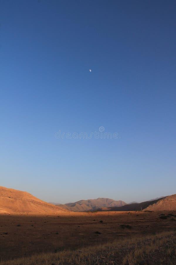 Moonrise do atlas fotografia de stock