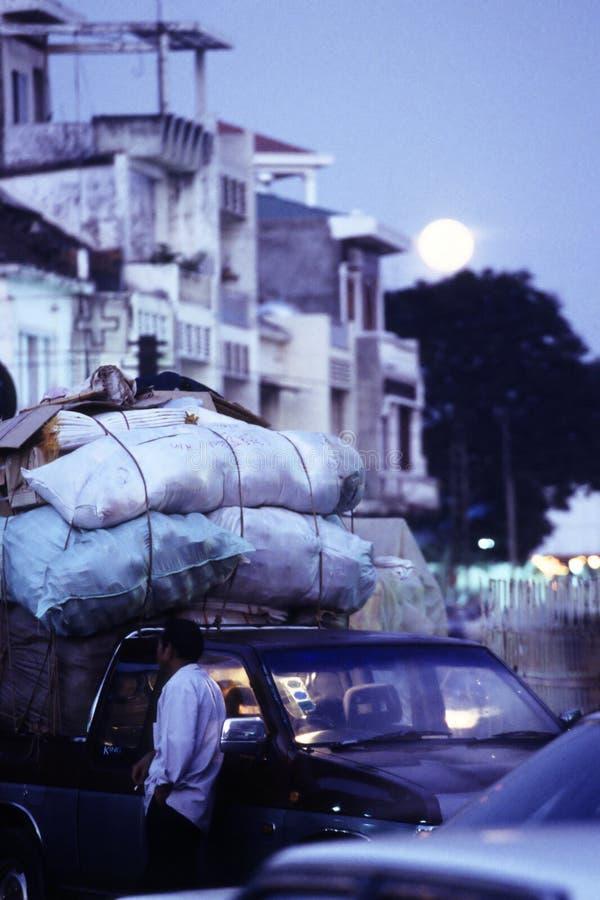 Download Moonrise- Downtown Phnom Penh, Cambodia Stock Photo - Image: 11821078