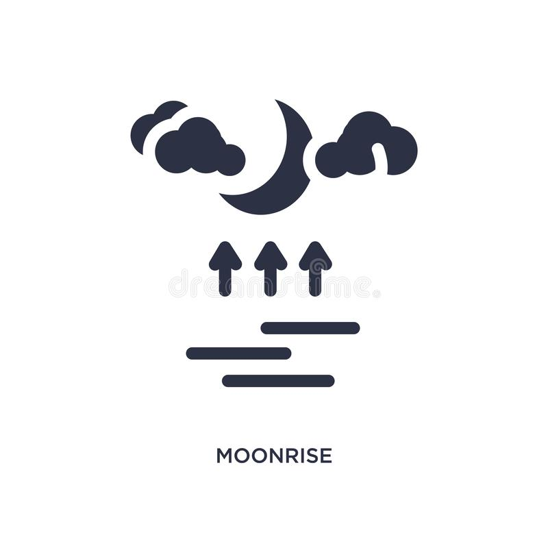 moonrise icon on white background. Simple element illustration from weather concept royalty free illustration