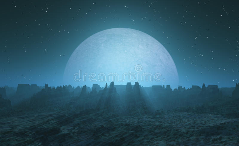 Moonrise stock illustration