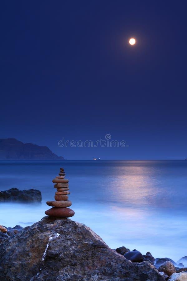 moonrise ocean zdjęcie stock