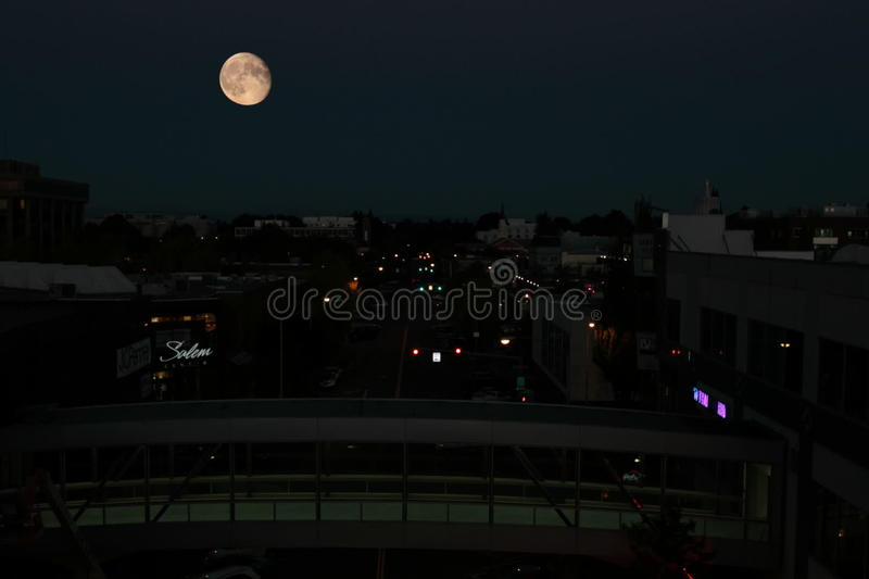 Moonrise over Centrumstraat stock footage