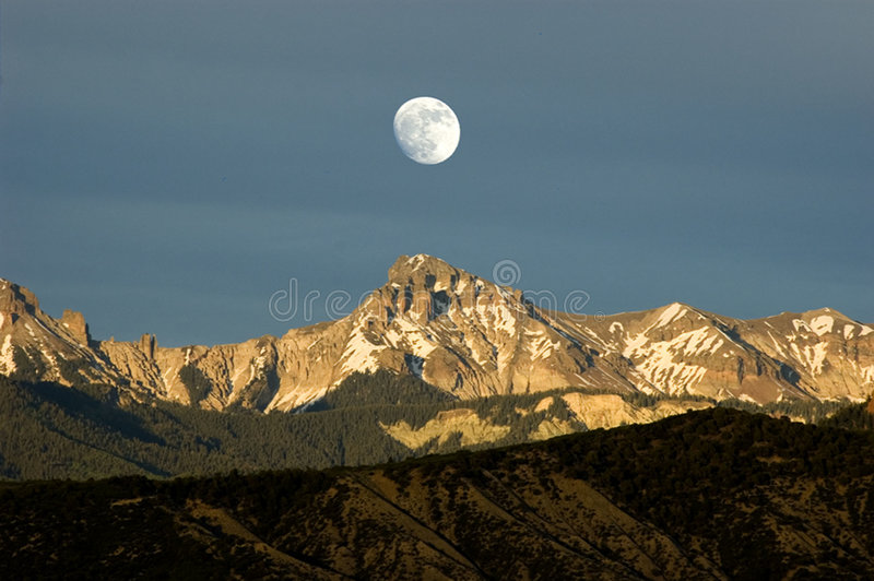 Download Moonrise Over The Cimmarons Stock Photo - Image of illusion, nature: 154124
