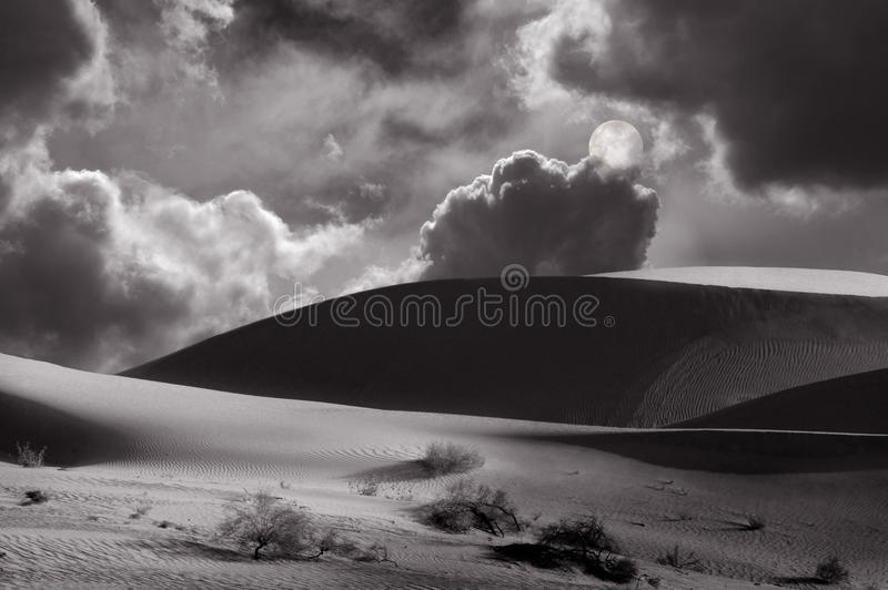 Download Moonrise Over The dunes stock image. Image of hill, dune - 14859631