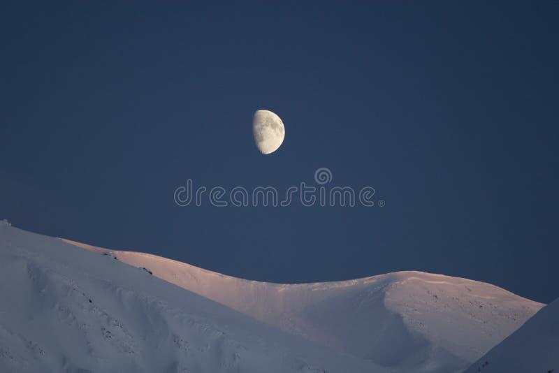 Moonrise over Pas Turnagain royalty-vrije stock foto's