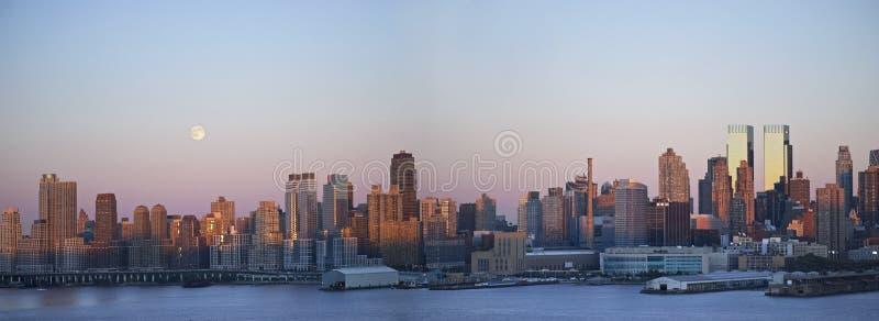 Download Moonrise Panorama stock photo. Image of skyline, night - 16634244