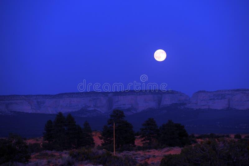 moonrise park narodowy zion fotografia royalty free
