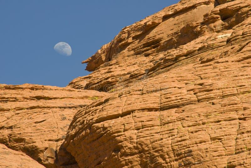 Moonrise over Red Rock Canyon stock photos