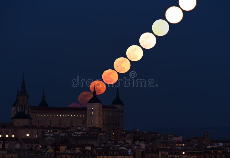 moonrise stockfotos