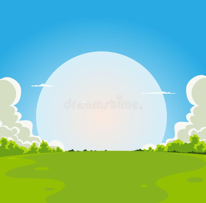 Moonrise van het beeldverhaal Achtergrond vector illustratie