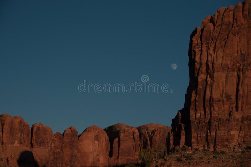 Moonrise w Utah jarze obraz stock