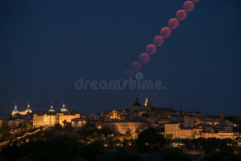 Moonrise zaćmiewający obrazy stock
