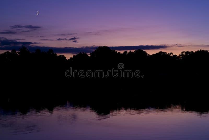 moonrise zmierzch zdjęcie royalty free