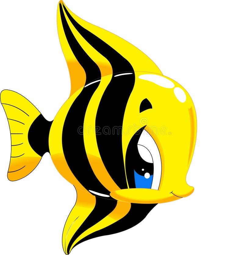 Moonrish神象-在水动物字符下的逗人喜爱的海洋生活动画片收藏 向量例证