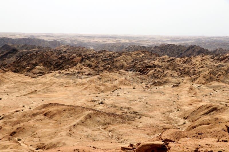 Moonscape jar - Namibia Afryka obraz stock