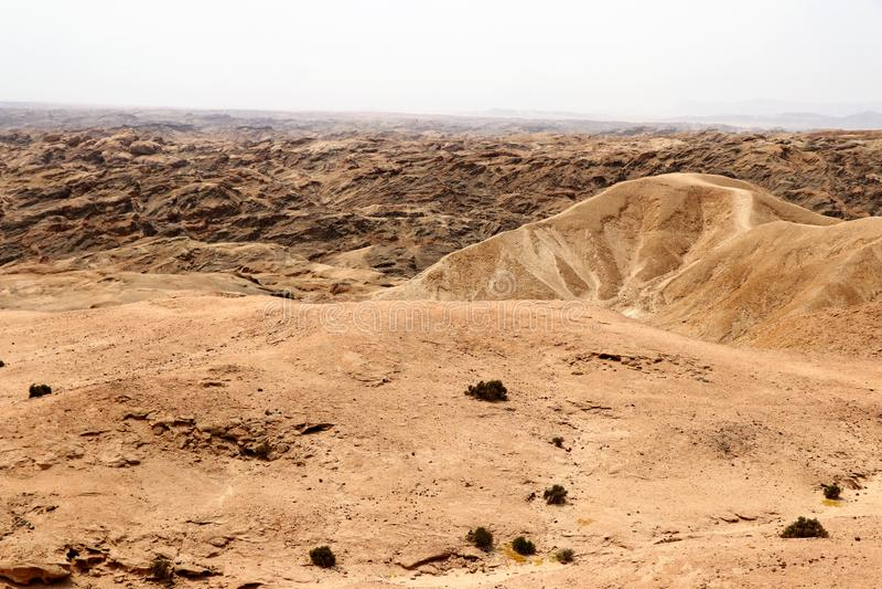 Moonscape jar - Namibia Afryka zdjęcie royalty free