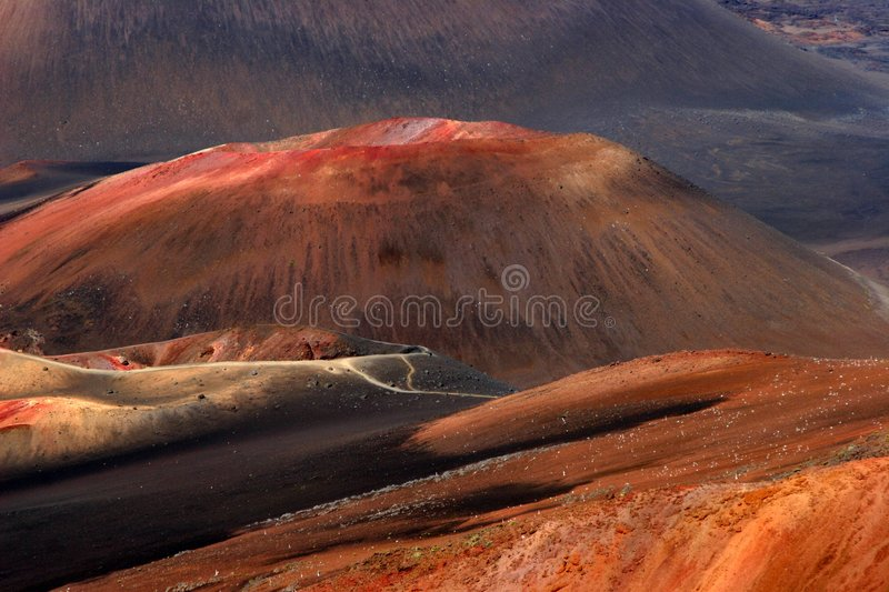 Moonscape on Maui stock image