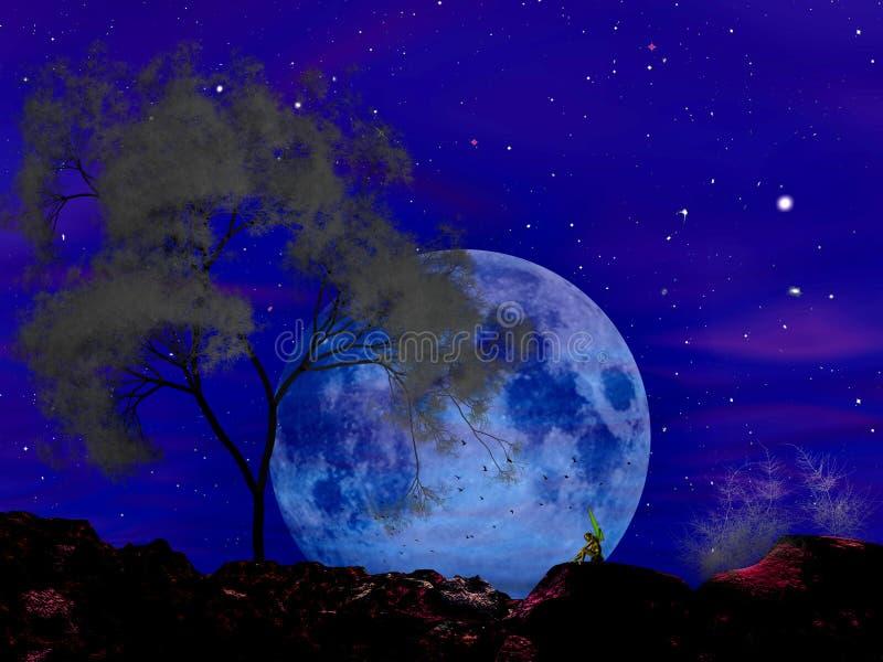Moonscape sonata royalty ilustracja