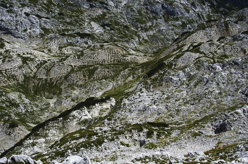 Moonscape w górach II , abstrakt, Juliańscy Alps fotografia royalty free