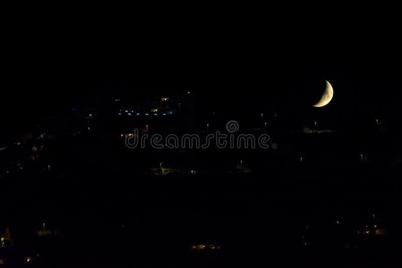 Moonset immagini stock
