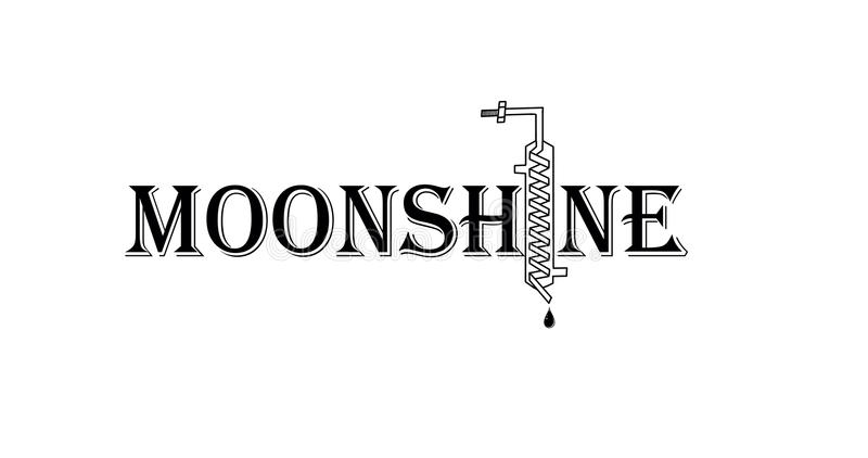 moonshine lizenzfreie abbildung