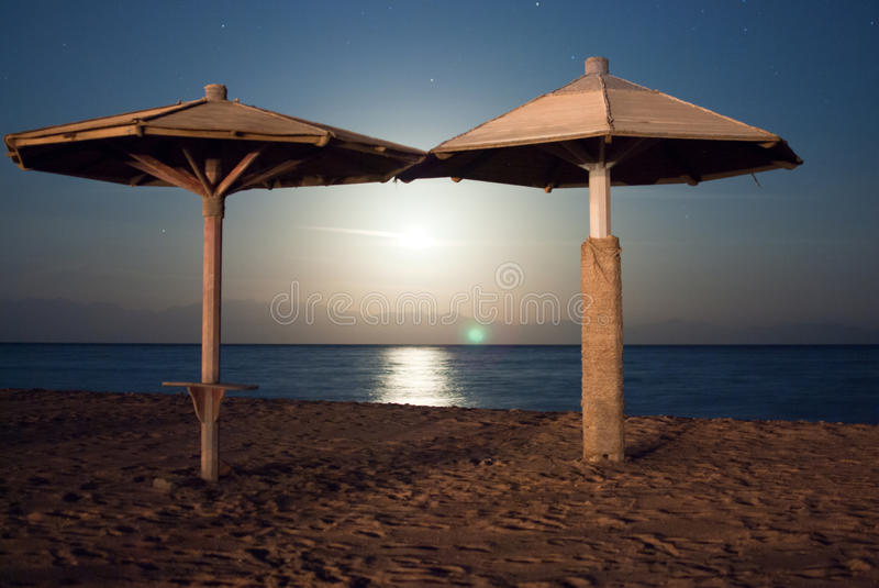 Moonshine in Dahab stock image