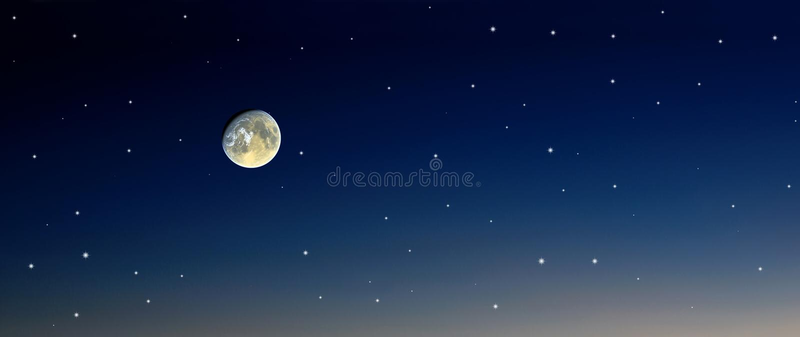 moonskystjärnor stock illustrationer