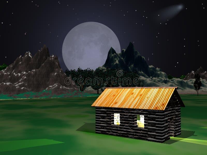 Download Moontime απεικόνιση αποθεμάτων. εικόνα από αστέρια, βουνό - 105604