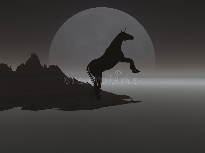 Download Moonunicorn stock illustrationer. Illustration av klövar - 249419