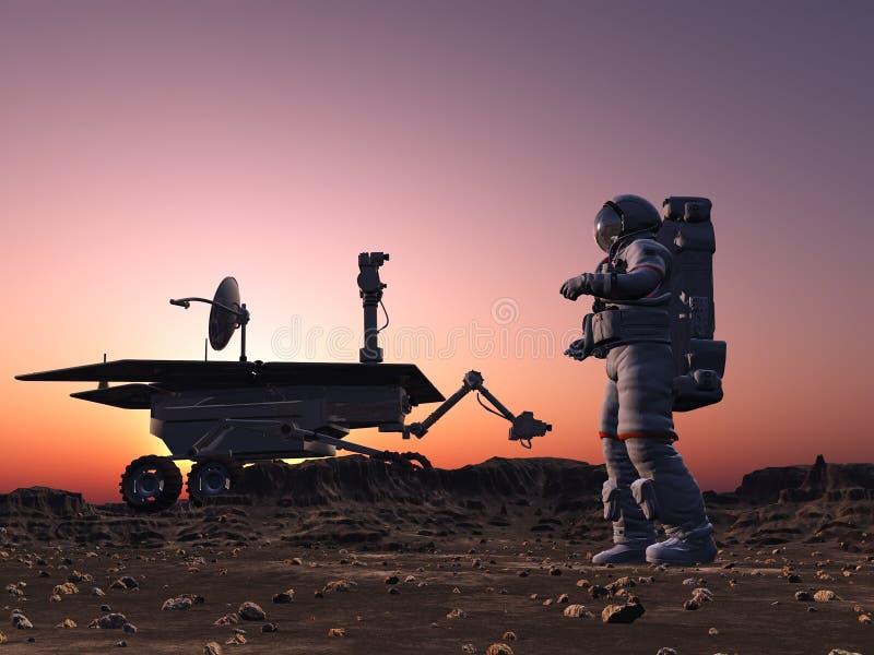 moonwalker астронавта иллюстрация штока