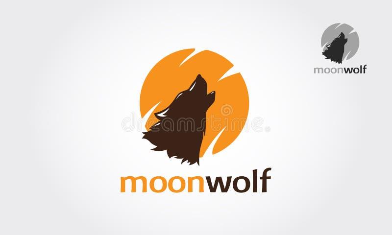 Moonwolf logo template royalty free stock photo