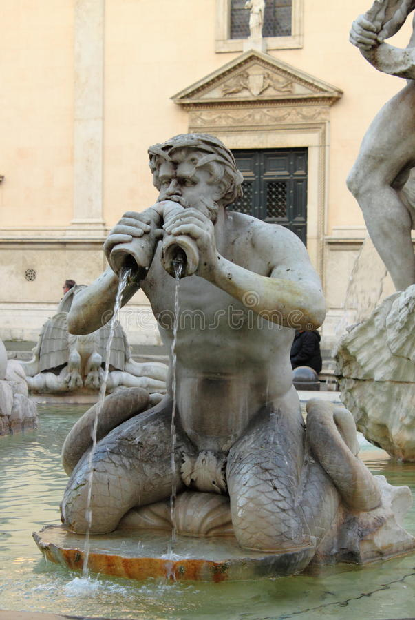 Download Moor Fountain In Navona Square Stock Image - Image: 13692001