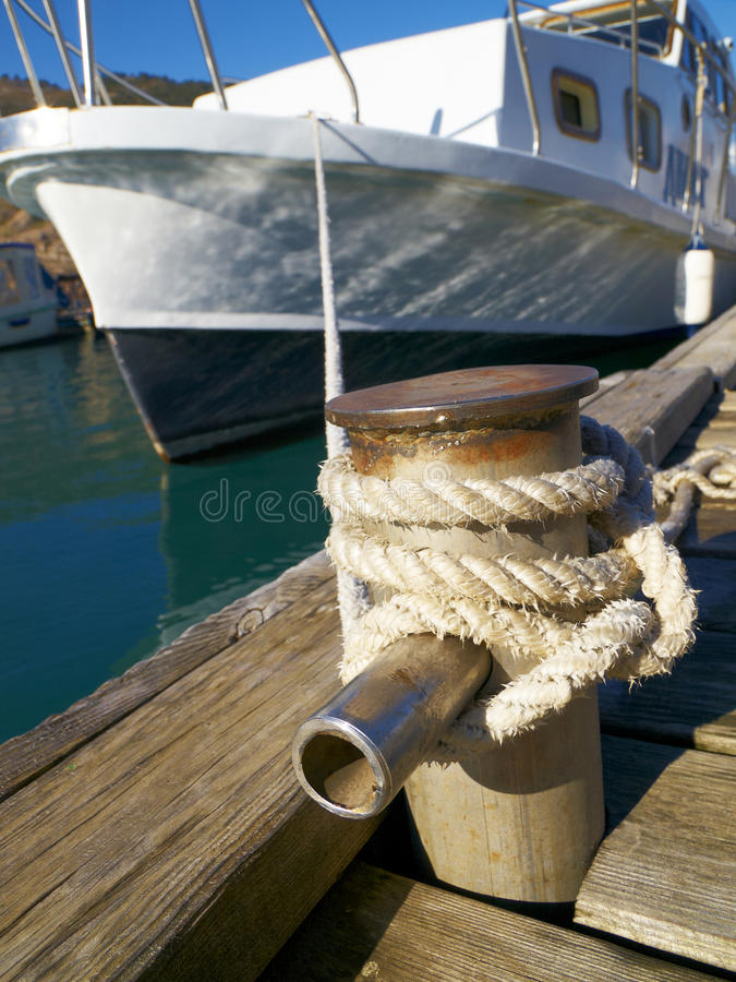 Download On a moorage stock image. Image of mooring, chain, board - 21002573