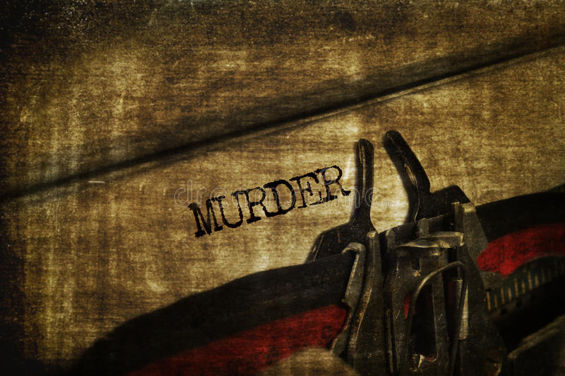 Moord stock afbeelding