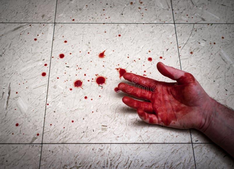Moorde Bloedige Handen stock fotografie