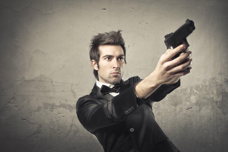 Moordenaar stock foto