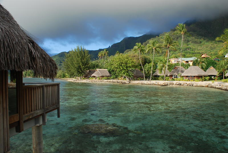 Moorea,法属玻里尼西亚 免版税图库摄影
