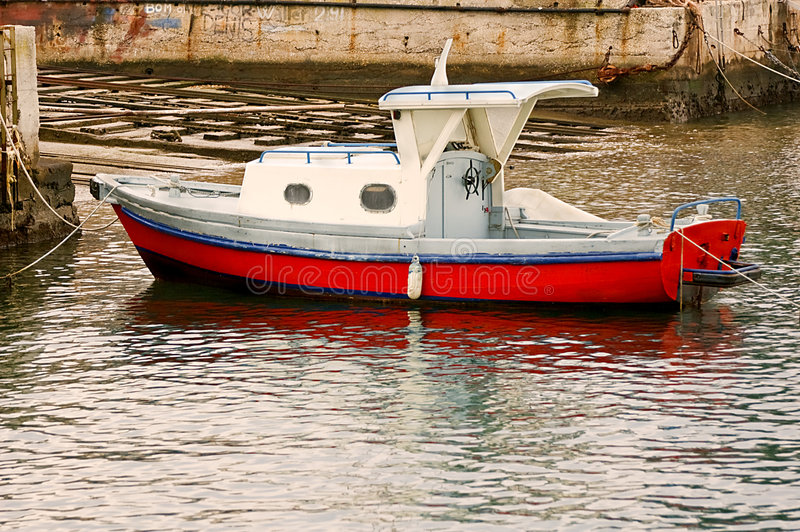 Download Moored boat stock image. Image of boat, harbor, moor, white - 3693189