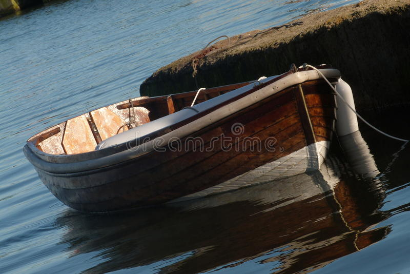 Moored boat stock image