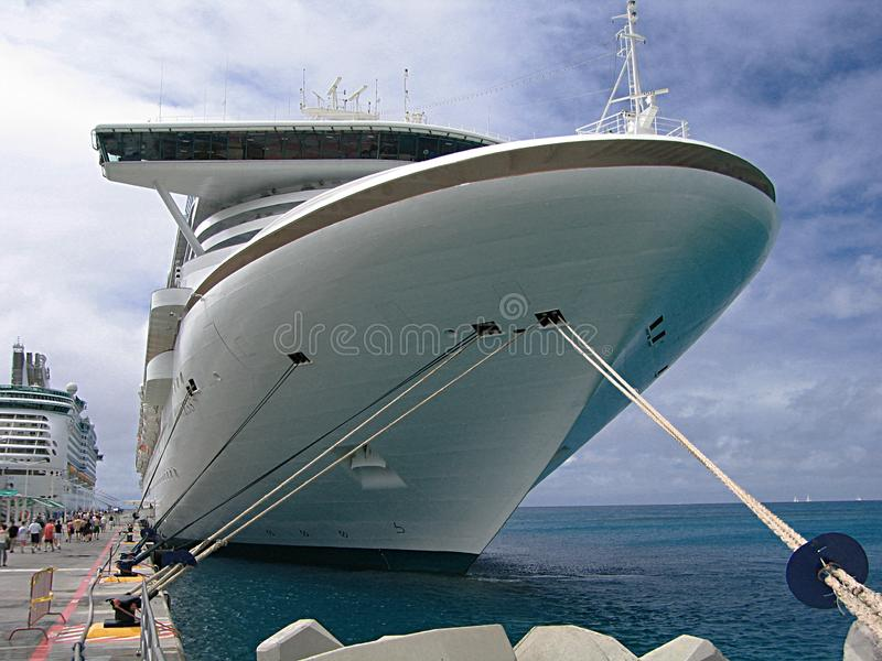 Moored cruise ship stock photo