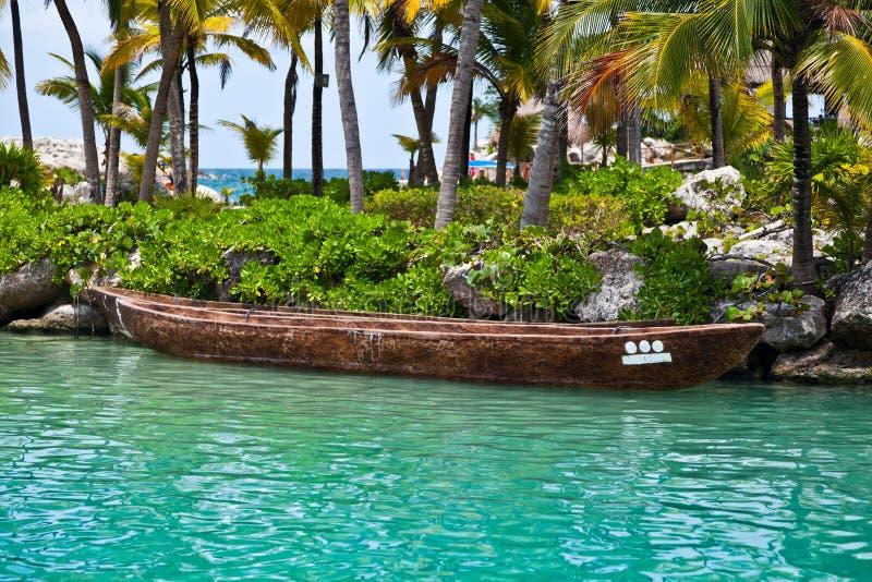 Download Moored Mayan Canoe stock photo. Image of canoe, numbers - 26200100