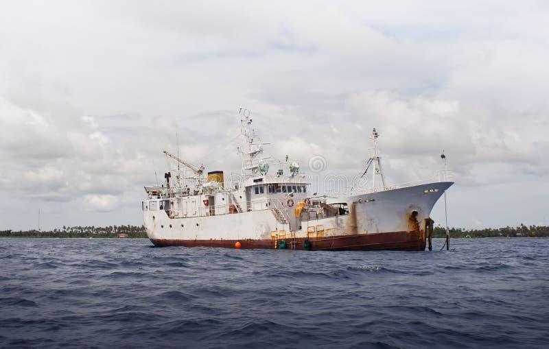 Moored Ship stock image